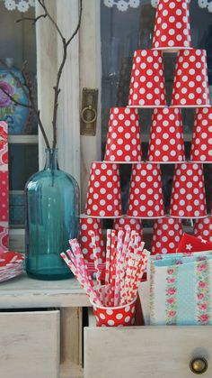 Red polka dot party