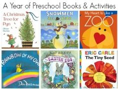 preschool books and activities to go with each.  Search by title, author,topic
