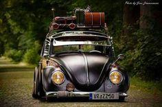 Fusca preto Euro Style | Carros Tunados e Antigos