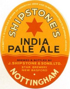 Labels Shipstone's India Pale Ale James Shipstone & Sons, Ltd. Star Brewery New Basford Nottinghamshire England Beer Labels, Bottle Labels, Beer Bottle, British Beer, Beer Mats, Pub Signs, Wine And Beer, Beer Brewing, Wine And Spirits