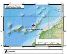 Terremoto 3 grados Atlántico Canarias, Fuerteventura 9 diciembre