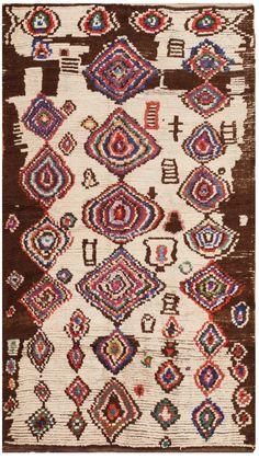 Vintage Moroccan Rug 46512 Detail/Large View - By Nazmiyal