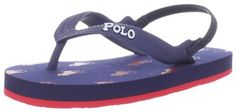 Polo Ralph Lauren Kids Amino Flip Flop (Toddler/Little Kid/Big Kid) Polo Ralph Lauren. $16.15. Rubber/EVA. Manmade sole. Polo horse logo throughout. Thong style sandal. Textured strap with Polo logo
