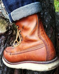 Red Wing 877, Viberg Boots, Fashion Boots, Mens Fashion, Mens Lace Up Boots, Red Wing Boots, Cuffed Jeans, Wedge Boots, Deconstruction