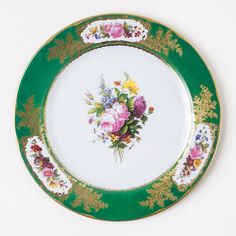 Sévres Green Tin Plate - Need 6 to Match My Others - from monticelloshop.org