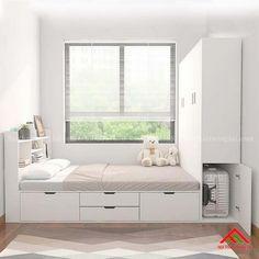 Small Room Design Bedroom, Wardrobe Design Bedroom, Teen Bedroom Designs, Bedroom Furniture Design, Home Room Design, Box Room Bedroom Ideas, Home Bedroom, Condo Interior Design, Bed Frame With Storage