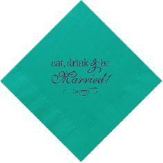 Wedding cocktail napkins!
