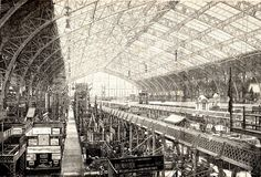 Inside the Galerie des Machines in Paris. It was built for the Paris World's Fair of 1889 by Charles-Louis Ferdinand Dutert, and demolished in Tour Eiffel, Innsbruck, Steel Trusses, Construction, Crystal Palace, World's Fair, Civil Engineering, Belle Epoque, 18th Century