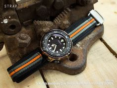 Introducing: MiLTAT Nylon Velcro Fastener Watch Strap with Seiko Marine Master Double layers tactical Velcro Hook-and-loop watch strap is made of special nylon which using 3-D weaving techniques. C…