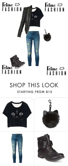 """Feline fashion"" by ninci-ninci on Polyvore featuring MICHAEL Michael Kors, ZiGiny and Balmain"