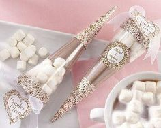 Hot chocolate gift sets for guests!