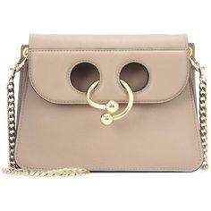 J.W.Anderson Mini Pierce Bag (62,135 DOP) ❤ liked on Polyvore featuring bags, handbags, neutrals, mini handbags, beige shoulder bag, mini purse, cross body and beige handbags