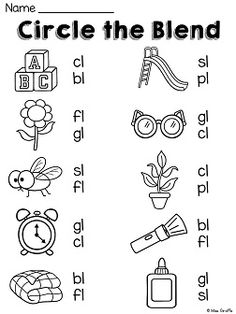 L blends practice worksheets and activities that kids love!!