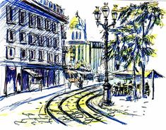 """Check out new work on my @Behance portfolio: """"Sketch of Orléans city in France"""" http://be.net/gallery/60372515/Sketch-of-Orlans-city-in-France"""