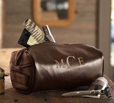 Leather Toiletry Case - $49.00 // oh so dapper!
