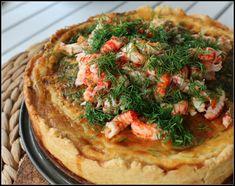 Västerbottenpaj med dill och kräftstjärtar – Linda´s Goda Recipe For Mom, Vegetable Pizza, Quiche, Seafood, Food And Drink, Fish, Baking, Eat, Breakfast