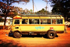 To discover a country, I prefere to travel like locals. To be honest, a Myanmar Bus ride is quite challenging, but worth every effort. Bus Ride, Countries Of The World, Effort, Travel Inspiration, Challenges, Country, Travel, World Countries, Rural Area
