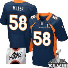 Von Miller Elite Jersey-80%OFF Nike Autographed Von Miller Elite Jersey at Broncos Shop. (Elite Nike Men's Von Miller Navy Blue Super Bowl XLVIII Jersey) Denver Broncos Alternate #58 NFL Autographed Easy Returns.