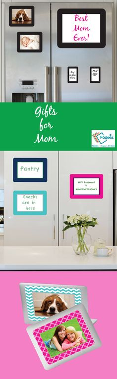 Display Photos, Photo Displays, Unique Gifts For Mom, Stainless Steel Refrigerator, Wifi Password, Refrigerators, Dry Erase Board, Ipads, Best Mom