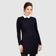 Cable Knit Tunic Sweater #lauraashleystyle