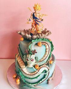 Dragon Ball Z grooms cake! Goku Birthday, Dragon Birthday, Ball Birthday, Dragon Party, Naruto Birthday, Tarta Dragon Ball, Groomsman Cake, Groom Cake, Dragonball Z Cake