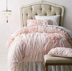 vintage bedding collections | Washed Appliquéd Fleur & Vintage Crochet Bedding Collection