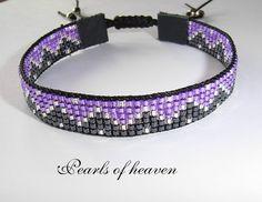 gewebtes Armband bead loom Zick Zack mit Miyuki Delicas