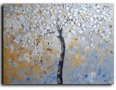 18x24 ORIGINAL Oil Painting  Palette knife Texture by studiomosaic, $199.00