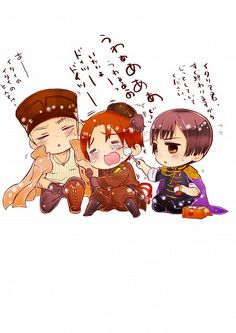 Hetalia ~~ Axis chibis fall down, go boom. (part 2 of 2)