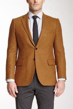 Herringbone Two Button Notch Lapel Wool Jacket on HauteLook. Perfect fit & cut.