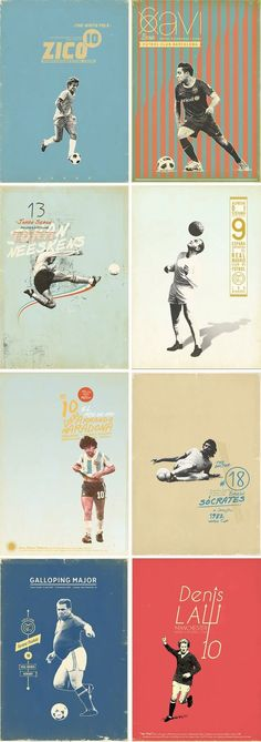 "zoran lucic's ""sucker for soccer"" collection of 44 designs – retro Soccer Art, Soccer Poster, Soccer Books, Soccer Banner, Girls Soccer, Soccer Games, Graphisches Design, Layout Design, Print Design"