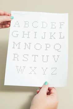 Easily cross-stitch alphabet gift tags with these steps and free pattern! Small Cross Stitch, Cross Stitch Cards, Cross Stitching, Cross Stitch Embroidery, Cross Stitch Alphabet Patterns, Cute Birthday Gift, Christmas Gift Tags, Scrapbook, Lettering