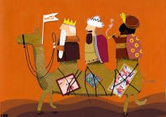 reyes magos ilustraciones Jews And Gentiles, Kings Day, Christmas Art, Christmas Ideas, Winter Solstice, Religious Art, Jingle Bells, Merry And Bright, Illustrators