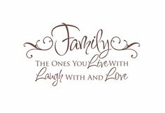 Family Vinyl Wall Decal - Live Laugh Love Wall Quote Saying for Living Room Family Room Foyer 20Hx36W FS098