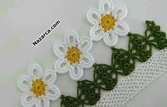 Newest Towel Edge Crochet Needlework Models Crochet Mandala, Filet Crochet, Easy Crochet, Crochet Flowers, Crochet Trim, Crochet Borders, Crochet Stitches, Crochet Towel, Crochet Skirts