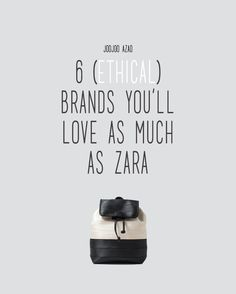 "6 ETHICAL BRANDS YOU'LL LOVE AS MUCH AS ZARA | A response to Refinery29's popular post ""6 Stores You'll Love as Much as Zara"" filled with destructive & fast-fashion brands. Because fashion should be empowering, not exploitative~"