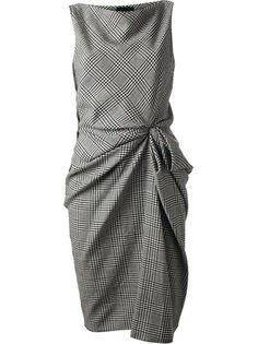 gathered checked dress | LANVIN