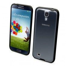 Capa Bimat Goma-ABS Galaxy S4 Preta + Protetor de Tela - Muvit  R$51,21