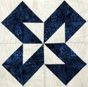 All half-square triangles - how neatly the would fit together! Quilters Newsletter's Block of the Month Mystery Quilt Ooh-Rah by Lori Baker continues with Block Quilt Block Patterns, Pattern Blocks, Applique Patterns, Half Square Triangle Quilts, Square Quilt, Quilting Projects, Quilting Designs, Two Color Quilts, Pinwheel Quilt