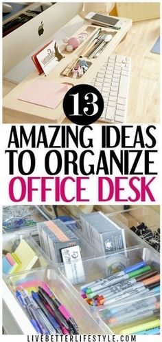 13 Ridiculously Smart Home Office Desk Organization Ideas - Office Desk - Ideas of Office Desk #OfficeDesk - These ridiculously smart home office desk organization ideas are the best! I really need inspiration to organize my home office desk and this is perfect for that! Definitely pinning for later! #home #organization #office #desk...