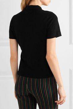 FRAME - Wool And Cashmere-blend Polo Shirt - Black - medium