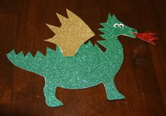 Dragon craft for kids. This dragon craft is simple to put together and goes great with any of our castle crafts. Dragon Kid, Dragon Party, Toddler Crafts, Preschool Crafts, Crafts For Kids, Logo Dragon, Castle Crafts, Fantasy Craft, St Georges Day