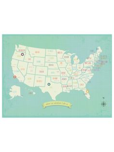 Two States Side By Side Custom Map Art Long Distance By - Customizable us map