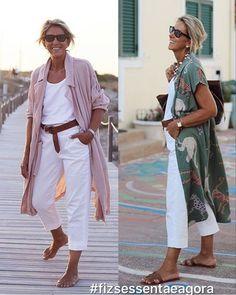 #Moda #para #senhoras #Sommeroutfits Frauen über 40 über 50 #verão Over 60 Fashion, Over 50 Womens Fashion, 50 Fashion, Fashion 2020, Fashion Outfits, Fashion Trends, Cute Summer Outfits, Spring Outfits, Mode Outfits