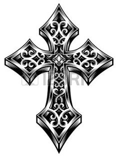 kreuz tattoo: Verziert Celtic Cross Vector Illustration