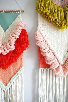Rachel Denbow's March 2016 woven wall hangings.