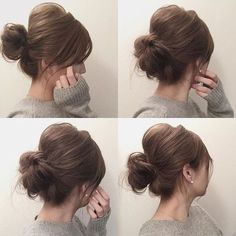 everyday hair for doing work around the house Short Hair Updo, Messy Hairstyles, Pretty Hairstyles, Wedding Hairstyles, Short Hair Styles, Kids Hairstyle, Hair Arrange, Hair Setting, Gorgeous Hair
