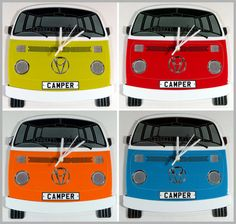 Personalised Campervan Clock by Laser Made Designs, the perfect gift for Explore more unique gifts in our curated marketplace. Volkswagen Bus, Vw Camper, Quartz Clock Movements, Laser Cut Acrylic, Vw Cars, Make Design, Campervan, Kids Bedroom, Unique Gifts