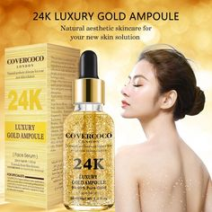 Covercoco Luxury Essential Oil Moisturizing Firming Anti Aging Skin Care Lift 24k Gold Face Serum - Buy Facial Skin Serum,24k Gold Serum,Face Serum Product on Alibaba.com Skin Serum, Facial Serum, Even Out Skin Tone, Gold Face, Uneven Skin Tone, New Skin, Face Oil, How To Apply Makeup, Anti Aging Skin Care
