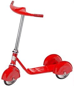 Retro Scooter in Red by morgancycle.com